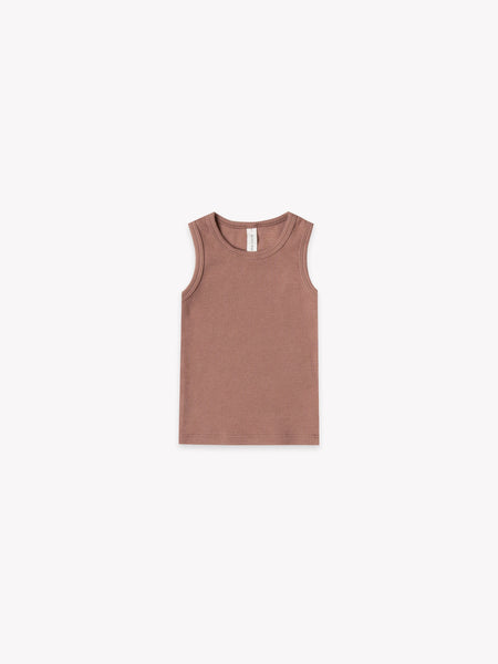 Ribbed Baby Tank - Clay