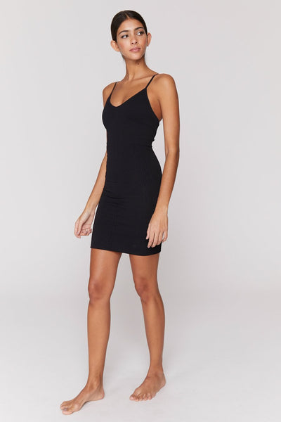 Seamless Row Dress - Black