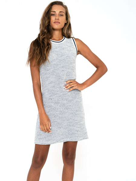 Baja Terry Tank Dress - Indigo