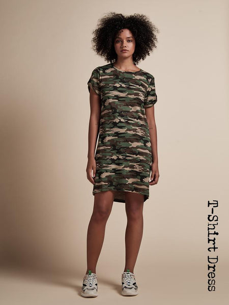 So Twisted T-Shirt Dress - Little Hero Camo