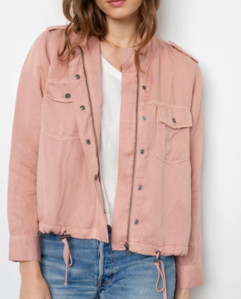 Collins Zippered Jacket - Rose Dust