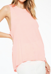 Ace Neon Tank - Coral Neon