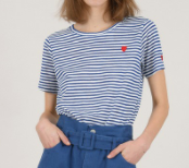 Striped Knitted Tee - Blue