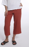Crop Linen West Coast Pant- Sedona Sunset