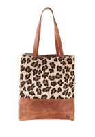 Saloso Leopard Leather Tote