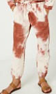 Girls Tie Dye Knit Joggers - Rust