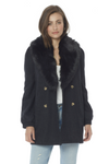 Button Front Coat - Black