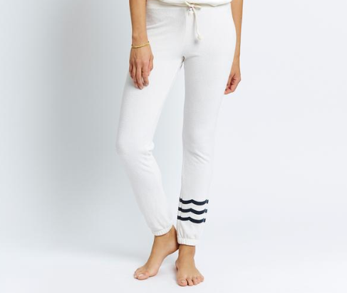 Essential Waves Hacci Jogger - Vintage White