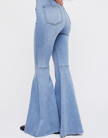 Just Float On Flare Jeans - Blue Combo