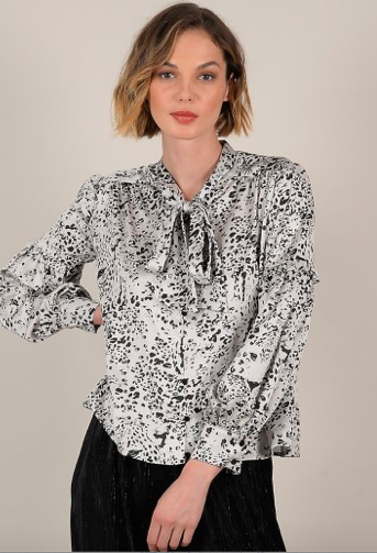 Long Sleeve Panther Blouse