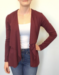Drape Pointe Cardigan - Berry