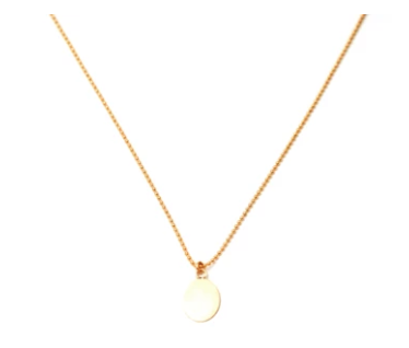 Ball Chain with Coin Necklace