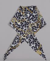 Animal Silk Diamond Scarf
