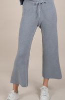 Knitted Flare Pants- Light Blue