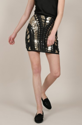Mini Skirt with Graphic Sequin