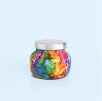 Volcano Watercolor Rainbow Jar Candle