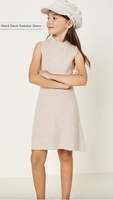 Knit Mock Neck Sweater Dress - Oatmeal