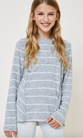 Stripped Sweater Top