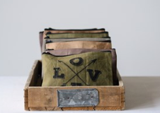 Distressed Canvas Pouch