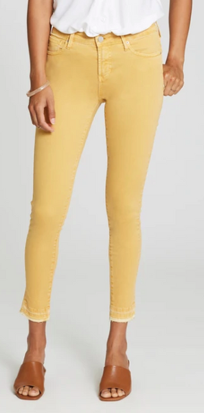Gisele Highrise Ankle Skinny - Canary Yellow