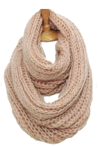Grace & Glory Goods The Aspen Knit Infinity w Gold Flecks - It. pink
