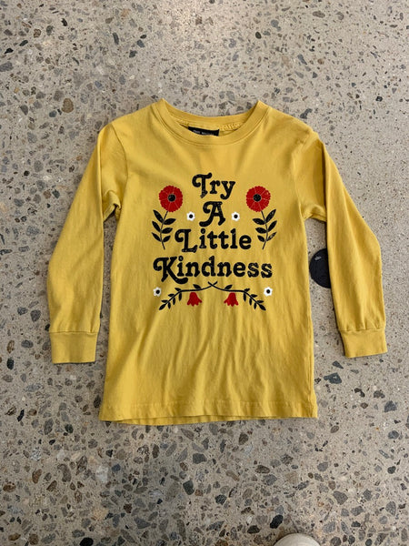 Try a Little Kindness Longsleeve - Mustard