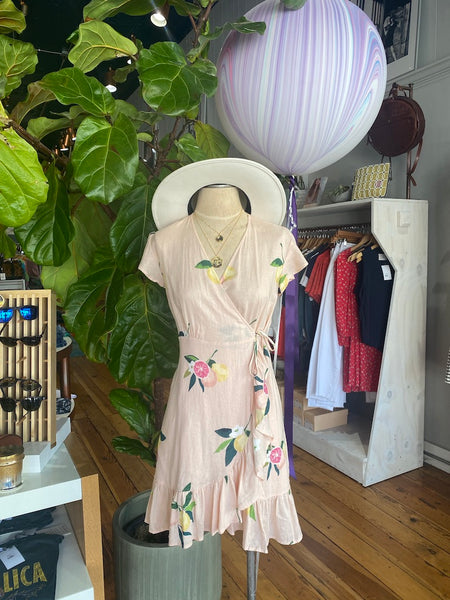 Koreen Wrap Dress - Pink Grapefruit