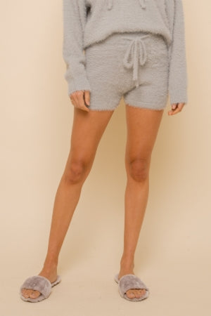High Waist Sweater Short