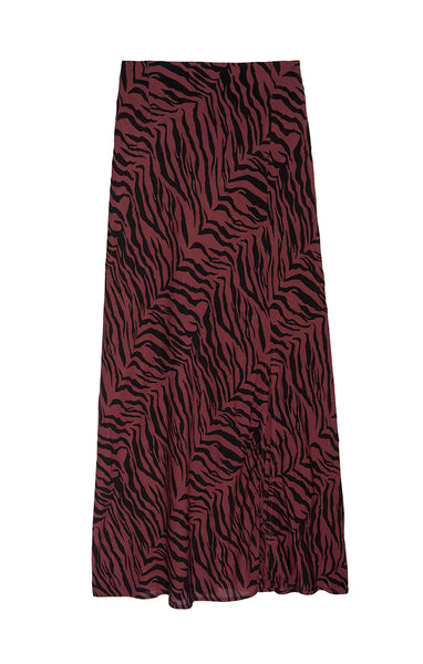 Veda Skirt - Rust Tiger Stripe