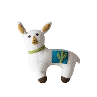 Wool Llama Tooth Fairy Pillow