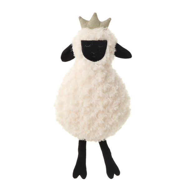 Plush Sheep with Crown - White
