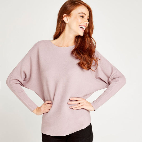 Clean Look Batwing Sweater - Pink
