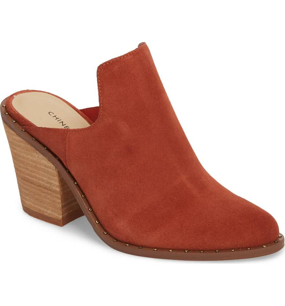 Split Suede Mule - Clay