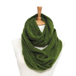 Infintiy Scarf with Sequins in Green
