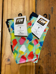 1/2 Terry Crew Sock - Popsicles