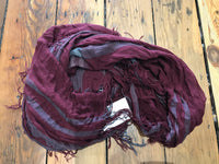 Tissue Plaid Scarf - Burgundy