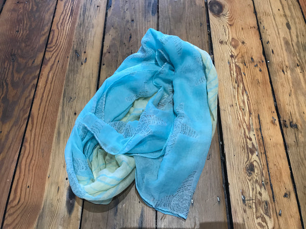 Starfish and Wave Print Scarf