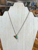 Solid State with Turquoise Bead Necklace