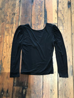 Black Puff 3/4 Sleeve Top