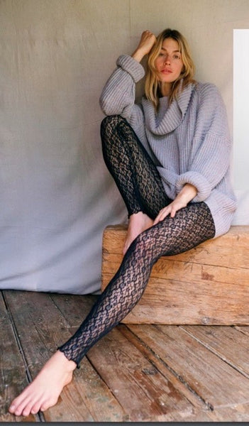 Layered in Lace Leggings - Black