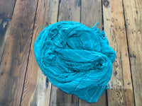 Tissue Plaid Scarf - Teal