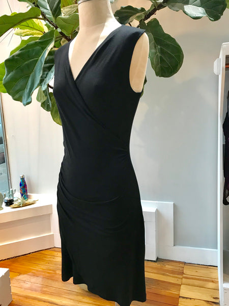 Ladies Wrap Dress - Black