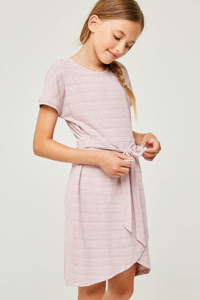 Kids Striped Front Tie Dress