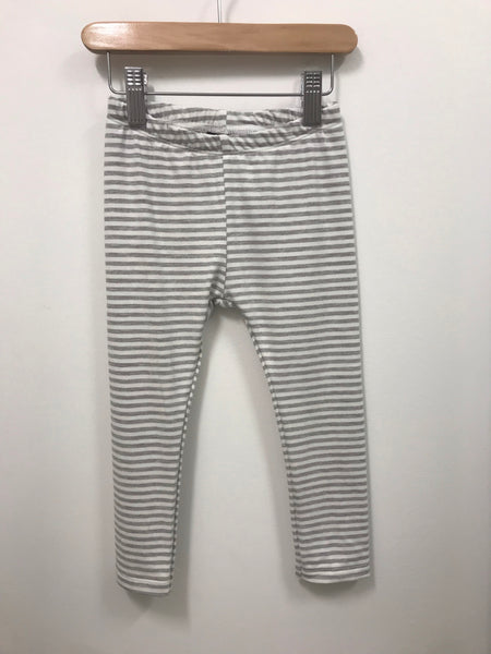 Basic Leggings - Light Grey Stripe