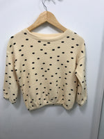 Dot Pullover Sweater - Black/Wheat