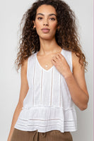 Mira Top - White Lace Detail