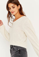 Button Back Chenille Sweater