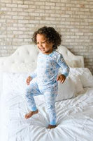 Two-Piece Bamboo Pajama Set - Snowflakes
