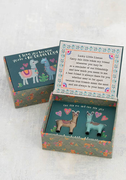 Llama Set of Two Lucky Little Tokens