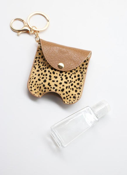 Bolling Animal Print Sanitizer Keychain
